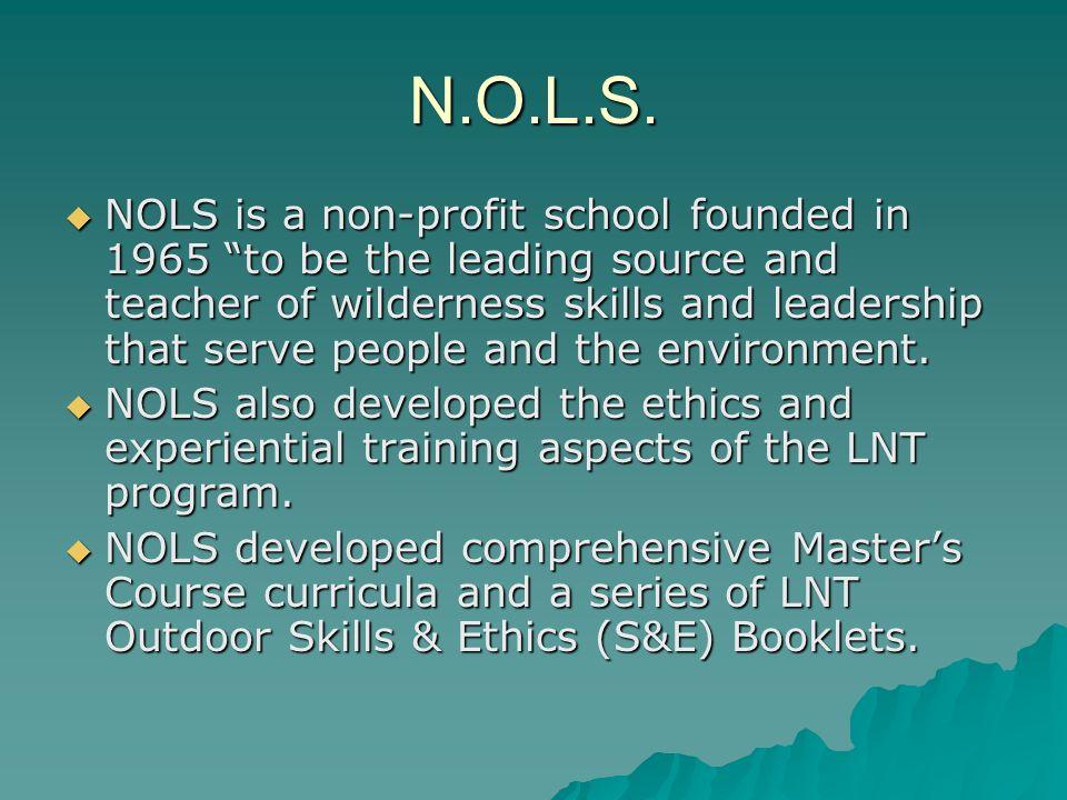 N.O.L.S.