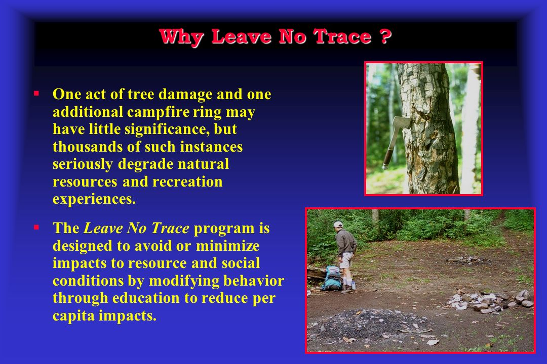 Why Leave No Trace .