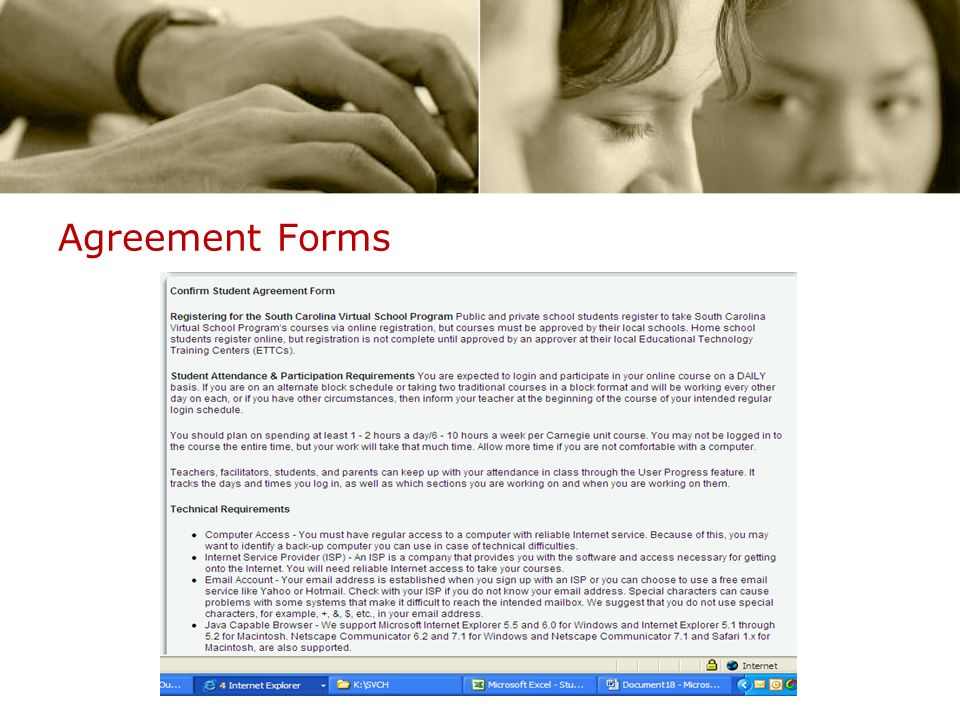 Agreement Forms