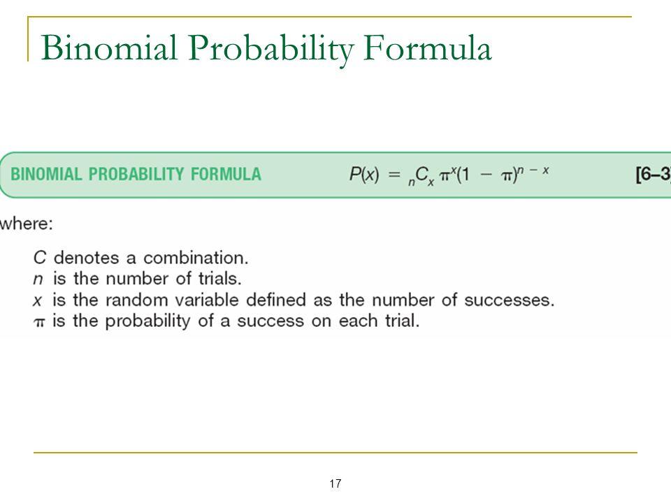 17 Binomial Probability Formula