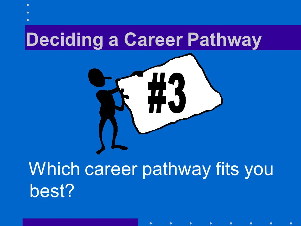 Deciding a Career Pathway Which career pathway fits you best