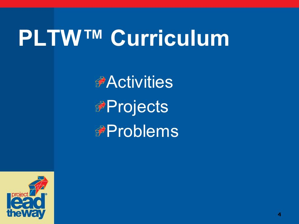 4 PLTW Curriculum Activities Projects Problems