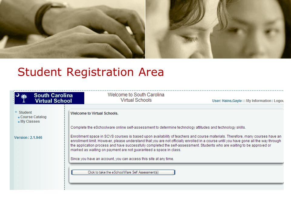 Student Registration Area