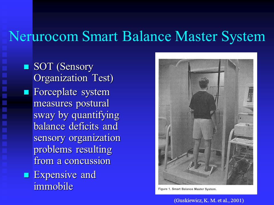 Nerurocom Smart Balance Master System SOT (Sensory Organization Test) SOT (Sensory Organization Test) Forceplate system measures postural sway by quan