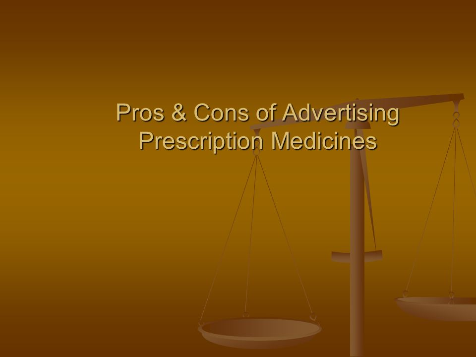 Pros & Cons of Advertising Prescription Medicines