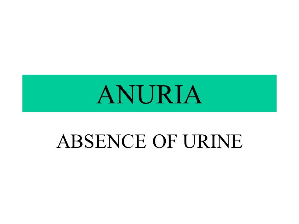 OLIGURIA BELOW NORMAL AMOUNT OF URINE