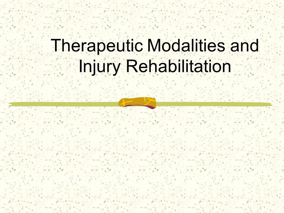 Therapeutic Modalities and Injury Rehabilitation