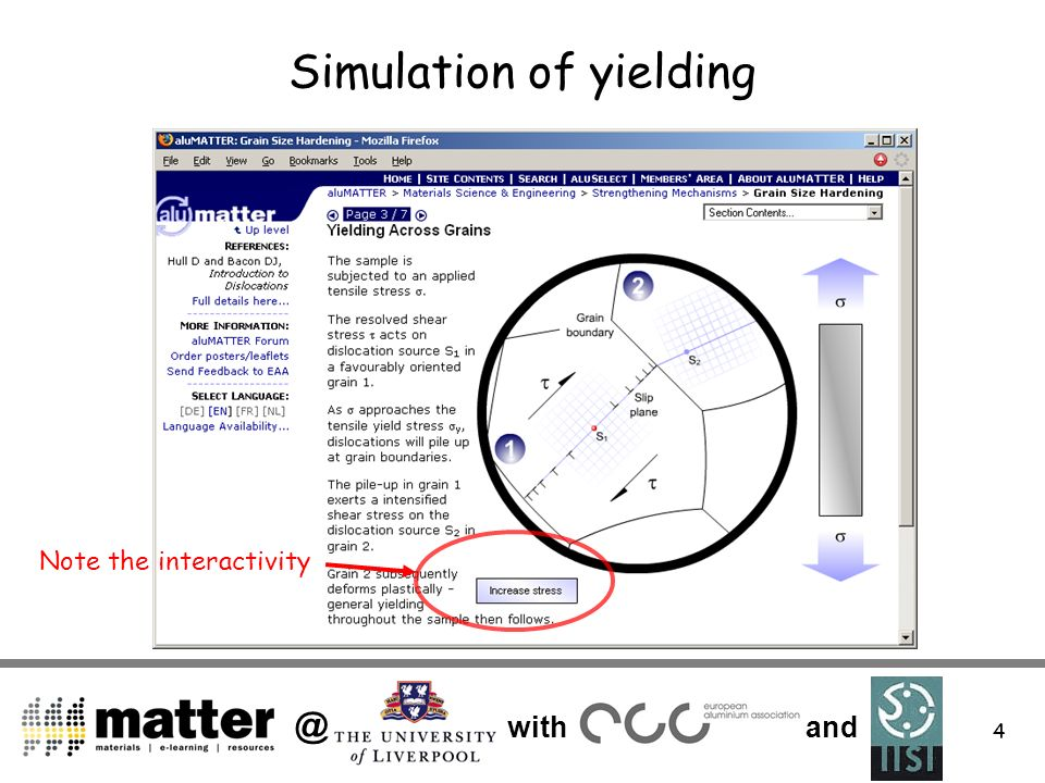 @ with and 4 Simulation of yielding Note the interactivity