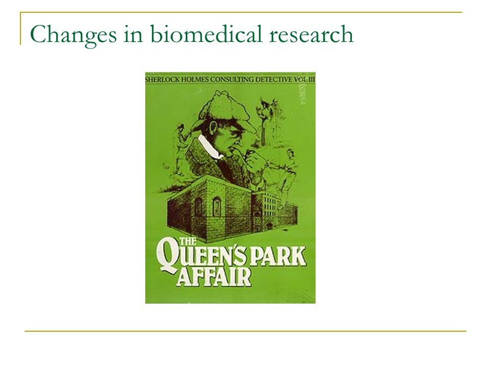 Changes in biomedical research