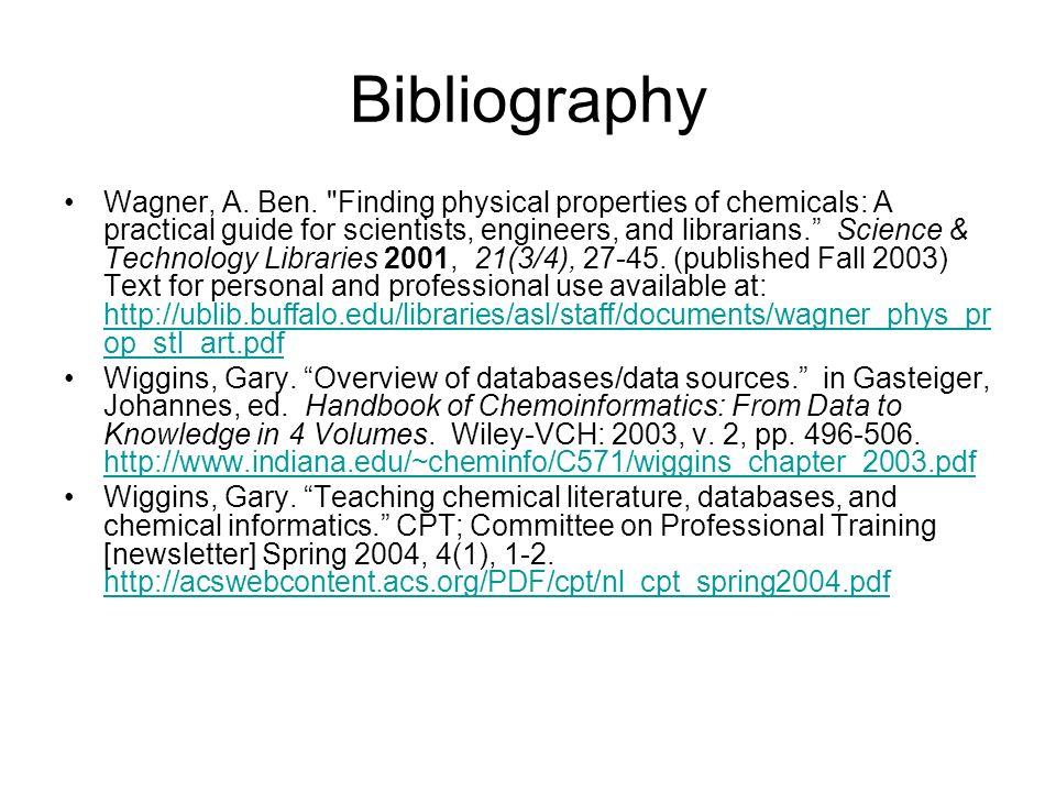 Bibliography Wagner, A. Ben.