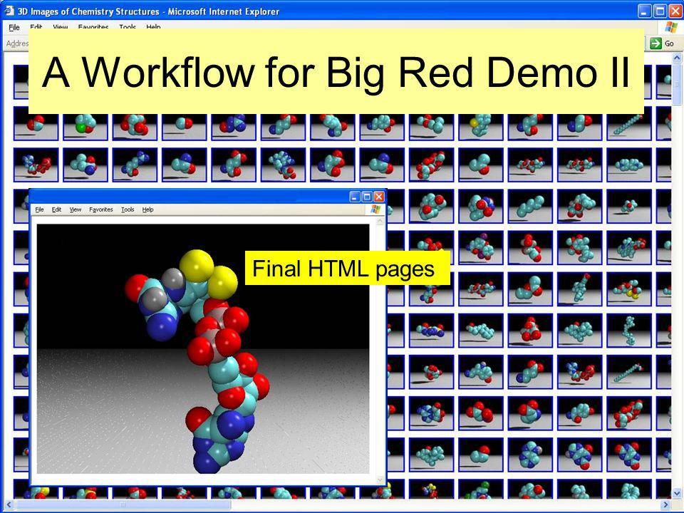 A Workflow for Big Red Demo II Final HTML pages