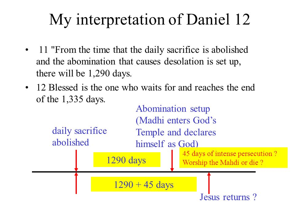 My interpretation of Daniel 12 11