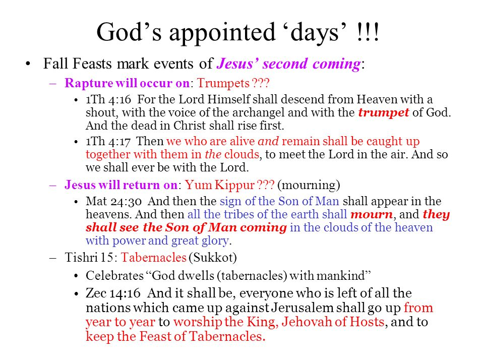 Gods appointed days !!.