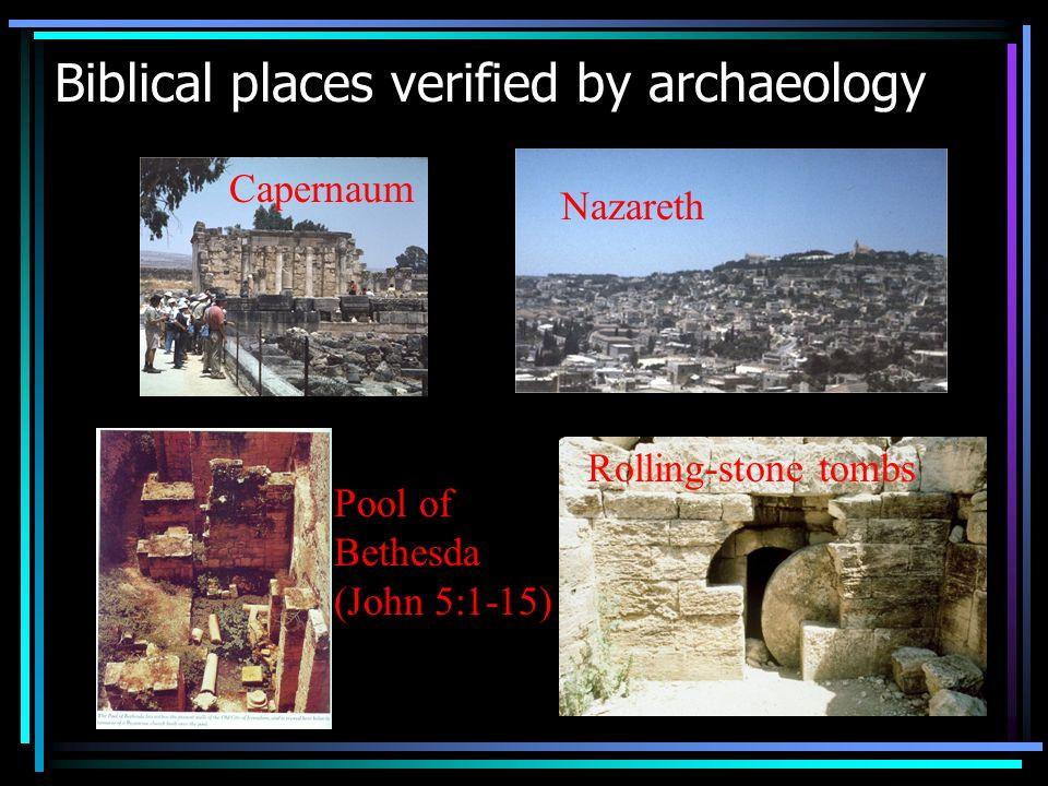 Biblical People verified by Archaeology TIBERIEUM (PON)TIUS PILATUS (PRAEF)ECTUS IUDA(EAE) Proconsul Sergius Paulus (Acts 13:6-12)
