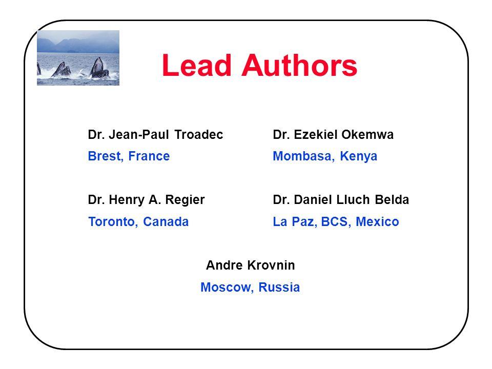 Lead Authors Dr. Jean-Paul TroadecDr. Ezekiel Okemwa Brest, FranceMombasa, Kenya Dr.