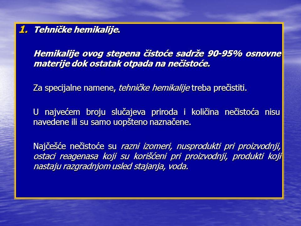 1.Tehničke hemikalije.
