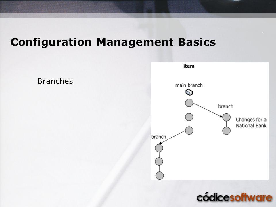 Branches Configuration Management Basics