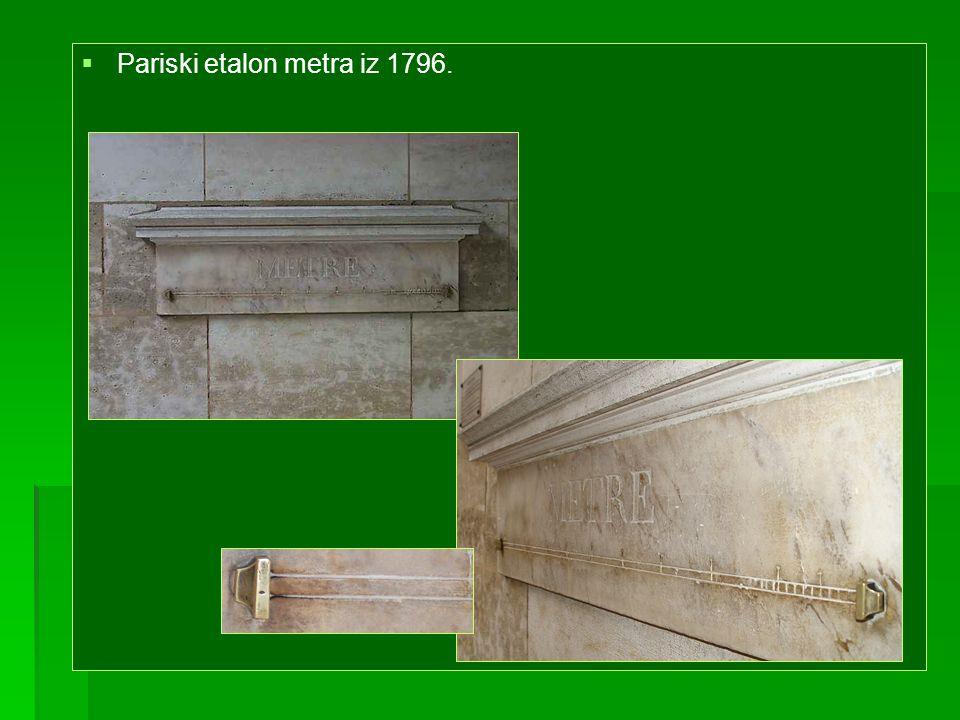 Pariski etalon metra iz 1796.