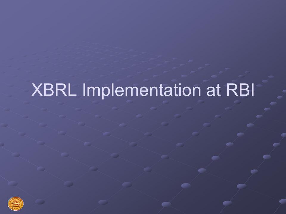 XBRL Implementation at RBI