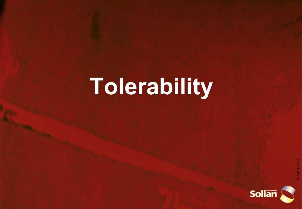 IC.AMS.04.06.02 Tolerability
