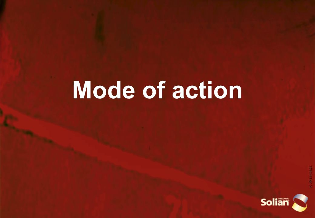 IC.AMS.04.06.02 Mode of action