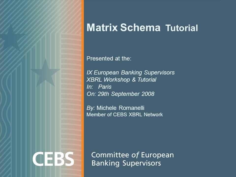 Agenda Introduction – What is a matrix schema Change management approaches A deeper view on matrix schemas Conclusions