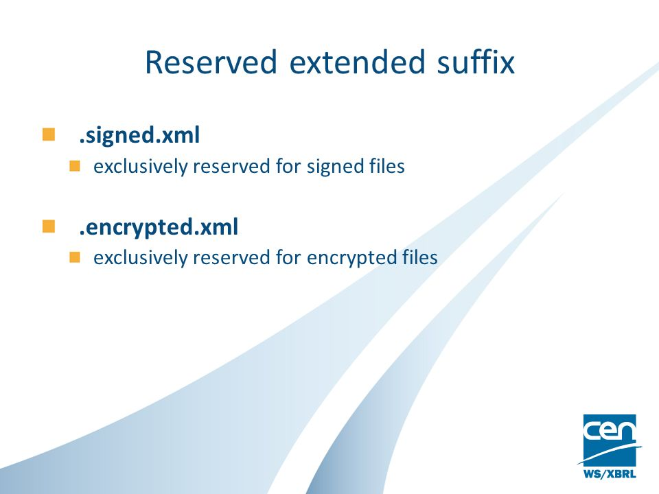 File name change upon signature File to signName of the signed fileFilename inside the XML signature file LolLol.signed.xml Same as « File to sign » Lol.pdfLol.signed.xml Same as « File to sign » Lol.zipLol.signed.xml Same as « File to sign » Lol.signed.xml Same as « File to sign » Lol.encrypted.xmlLol.signed.xml Same as « File to sign »