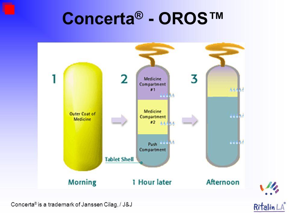 Concerta ® - OROS Concerta ® is a trademark of Janssen Cilag, / J&J