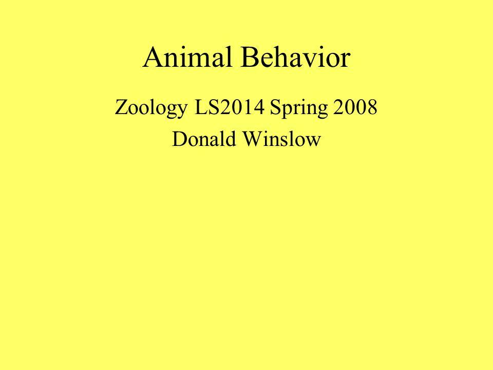 Approaches to Animal Behavior Comparative Psychology Ethology--adaptation Behavioral Ecology Sociobiology Evolution of Behavior Neurobiologyphysiological mechanisms