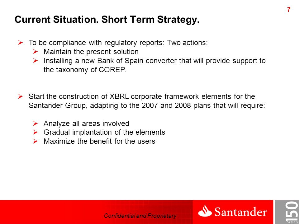 Confidential and Proprietary 8 External reporting.