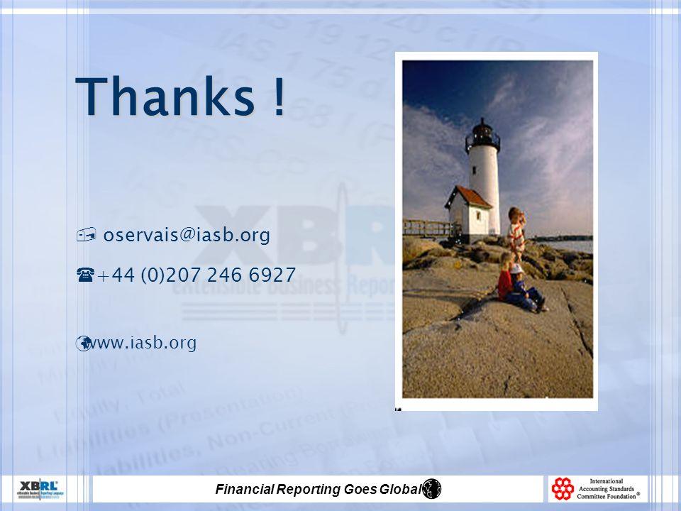 Thanks ! oservais@iasb.org +44 (0)207 246 6927 www.iasb.org