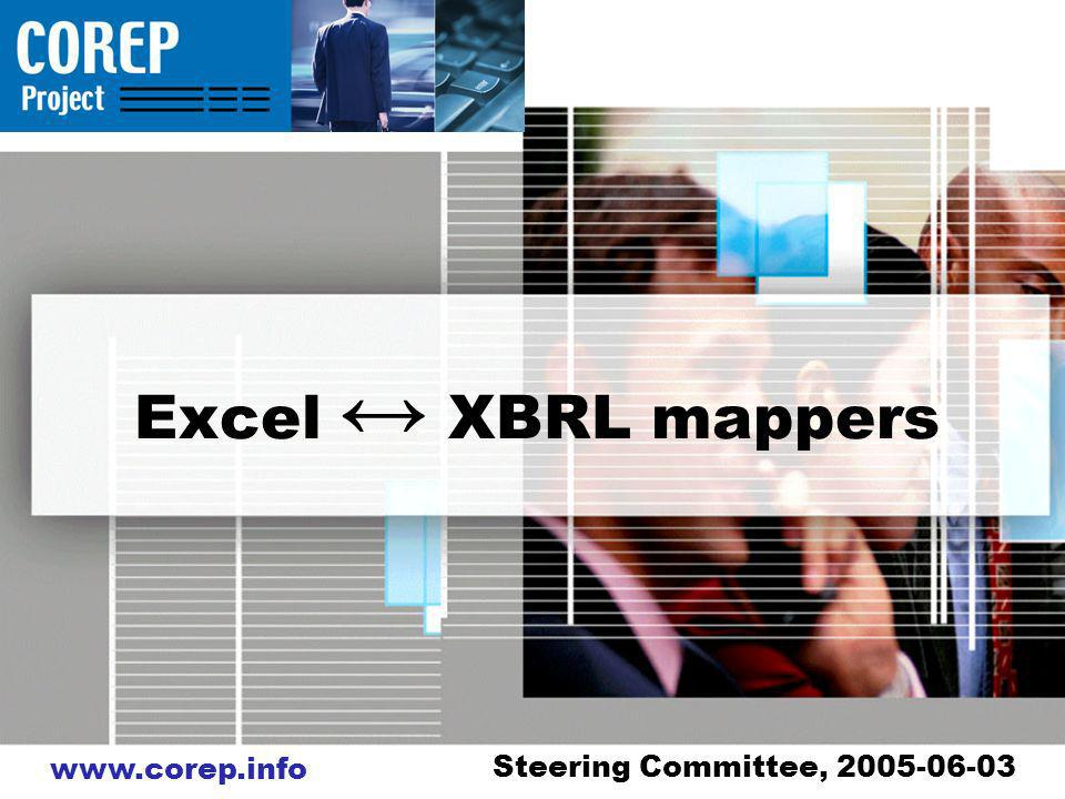 Excel XBRL mappers Steering Committee,