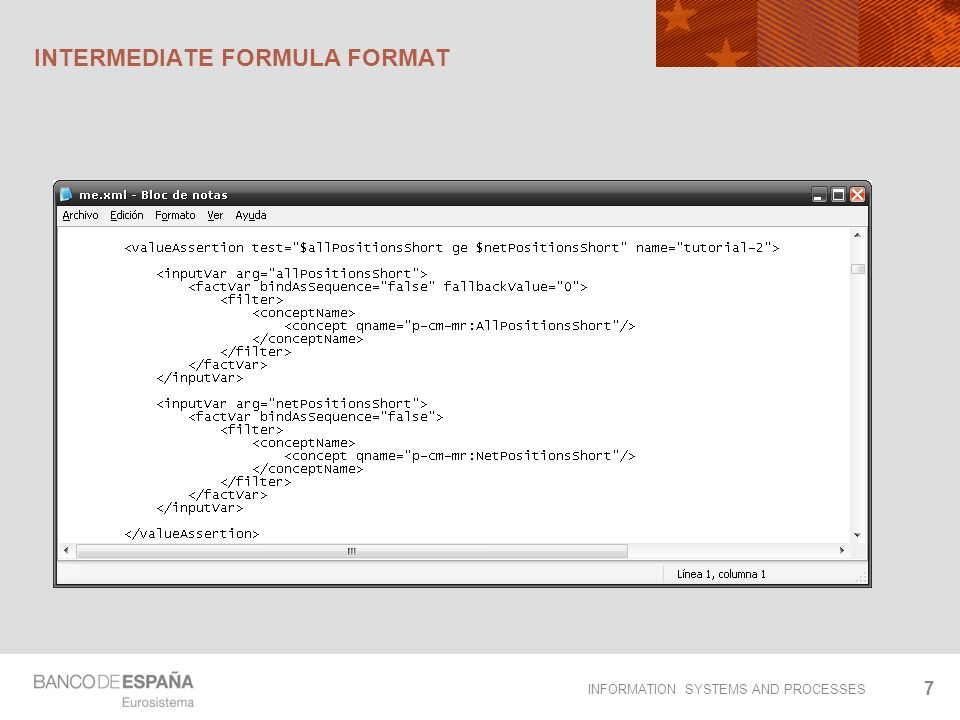 INFORMATION SYSTEMS AND PROCESSES INTERMEDIATE FORMULA FORMAT 7
