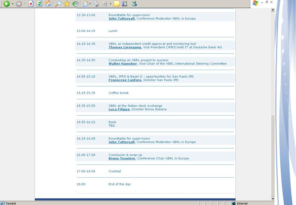 CEBS - XBRL COREP Steering Committee Friday, 3 June 2005