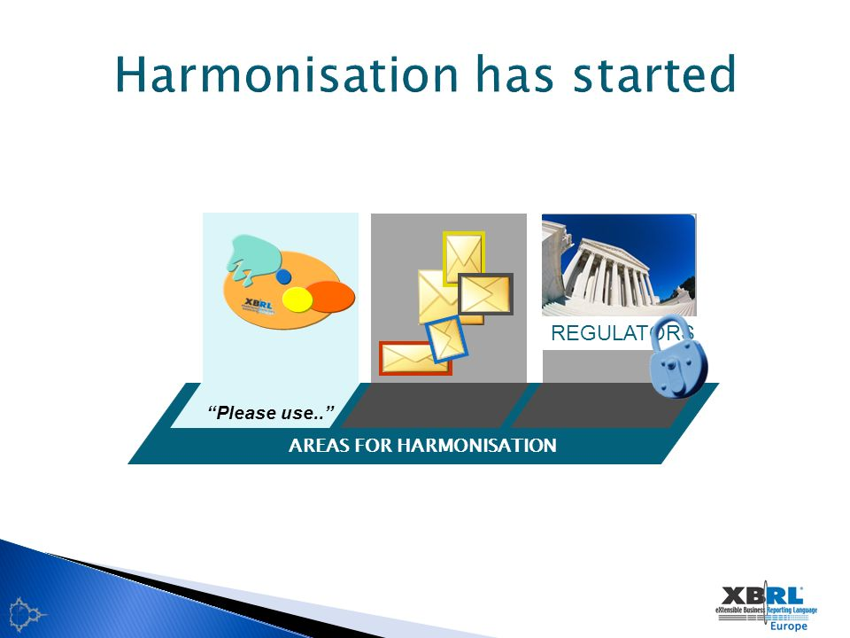 AREAS FOR HARMONISATION Please use.. REGULATORS