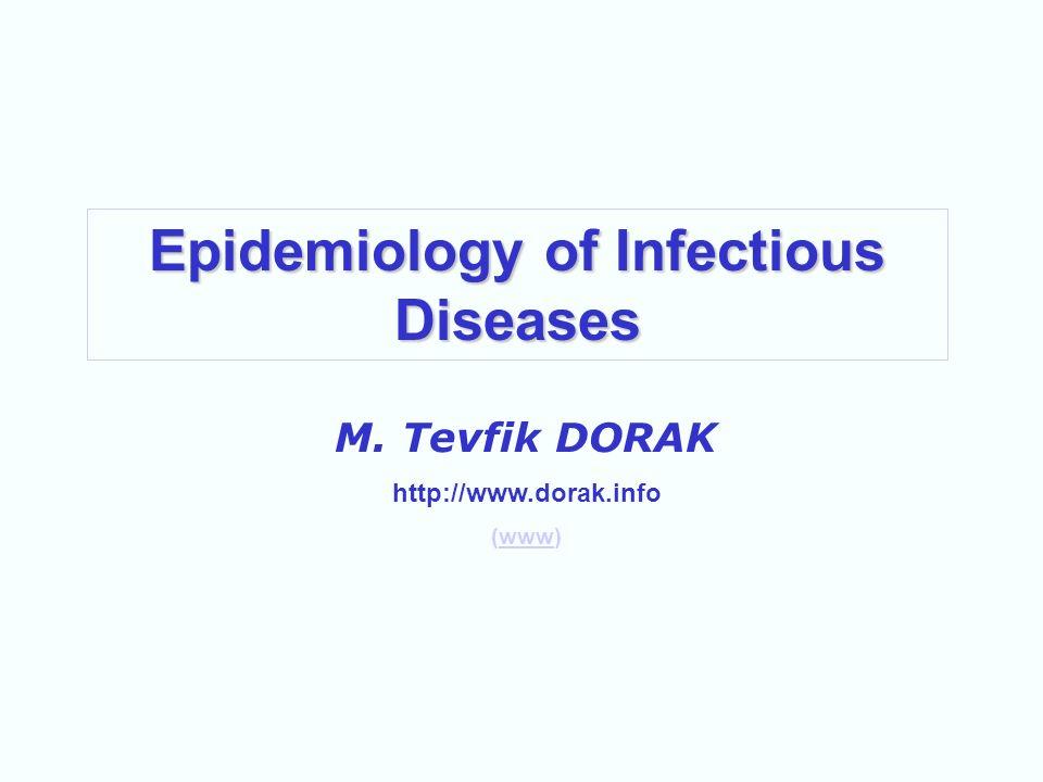 Epidemiology of Infectious Diseases M. Tevfik DORAK http://www.dorak.info (www)www