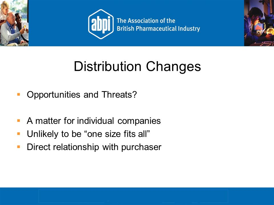 Distribution Changes Opportunities and Threats.