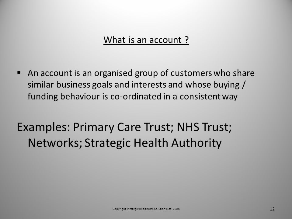 What is an account .