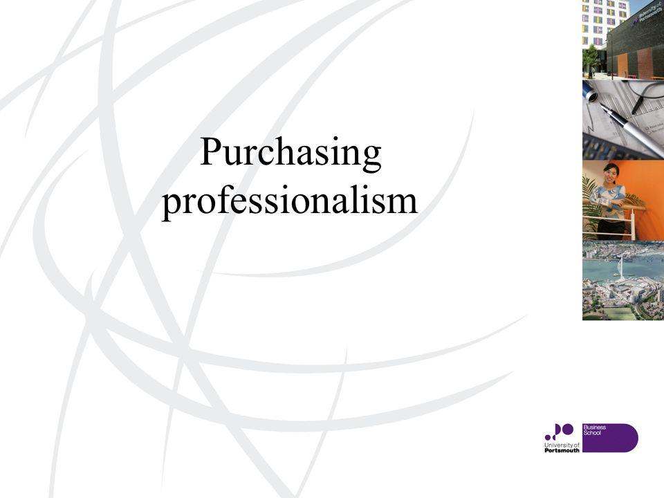 Purchasing professionalism