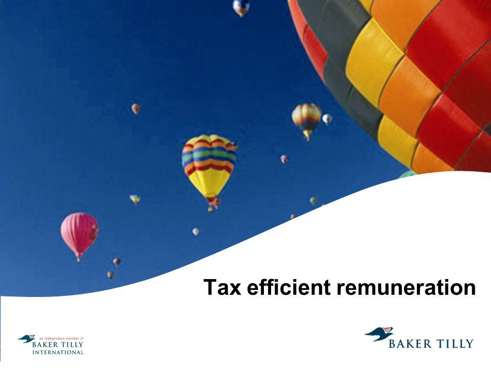 Tax efficient remuneration