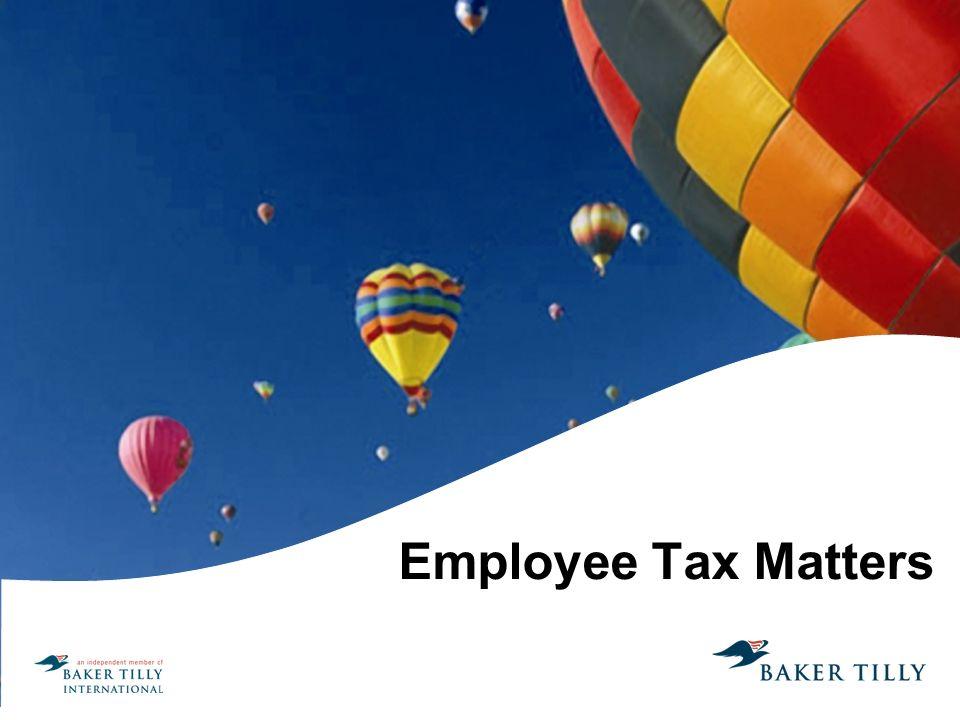Employee Tax Matters
