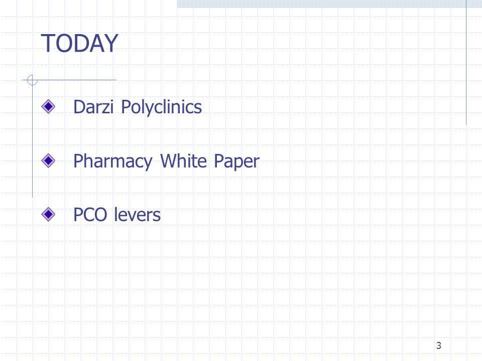 3 TODAY Darzi Polyclinics Pharmacy White Paper PCO levers