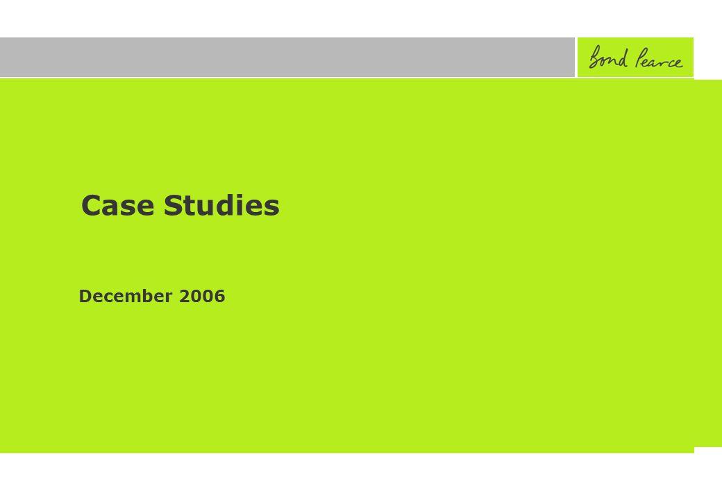Case Studies December 2006