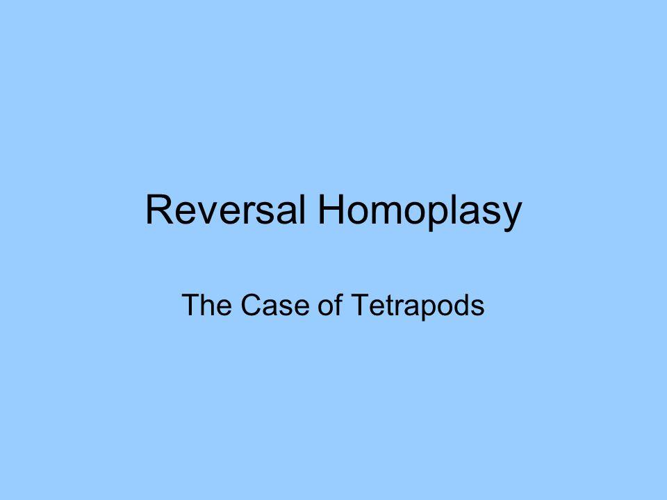 Reversal Homoplasy The Case of Tetrapods