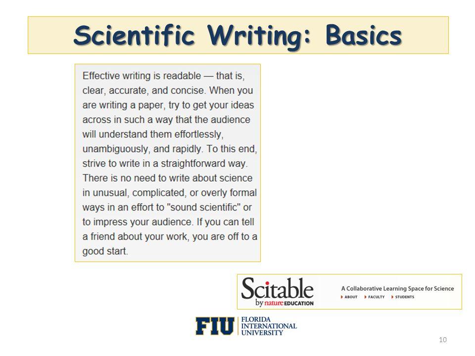 Scientific Writing: Basics 10