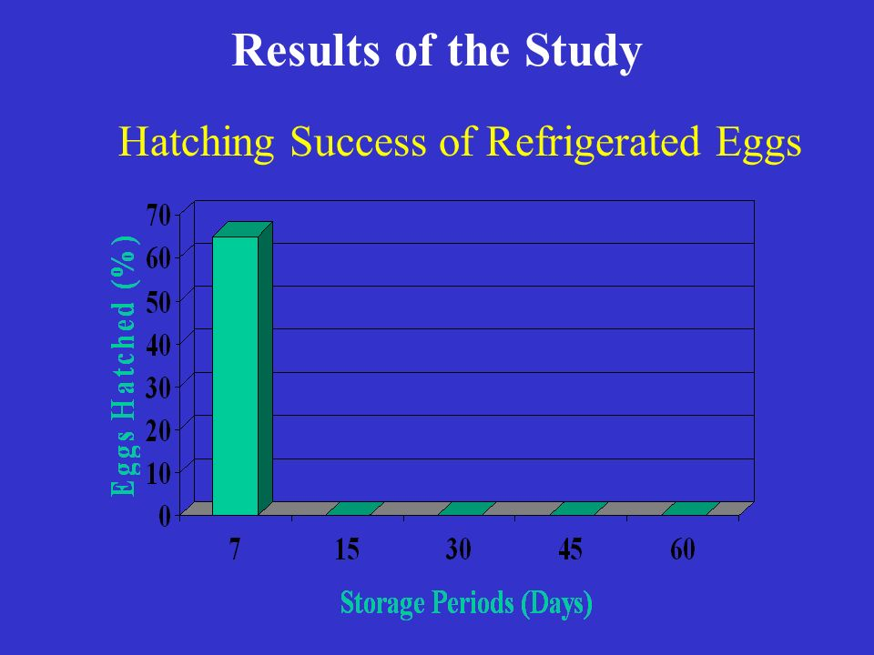 Results of the Study Hatching Success of Refrigerated Eggs