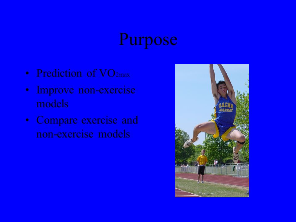 Introduction VO 2max Cardio Respiratory Fitness (CRF) Regression Models