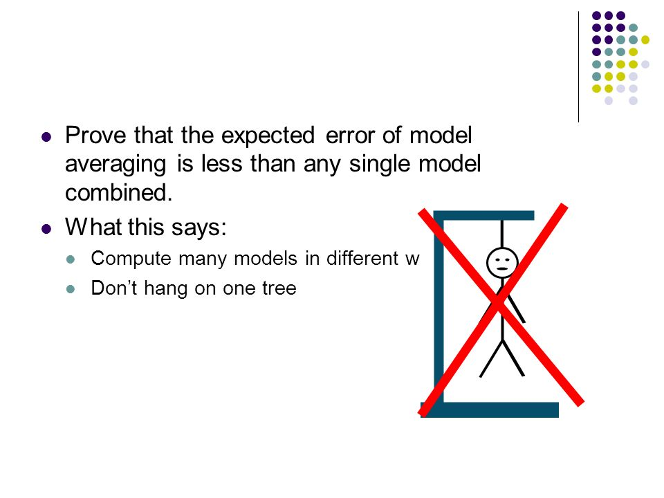 Prove that the expected error of model averaging is less than any single model combined.