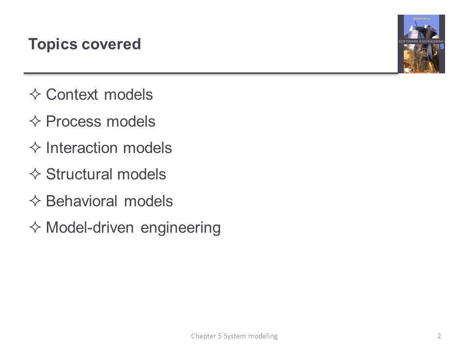 Order processing 33Chapter 5 System modeling