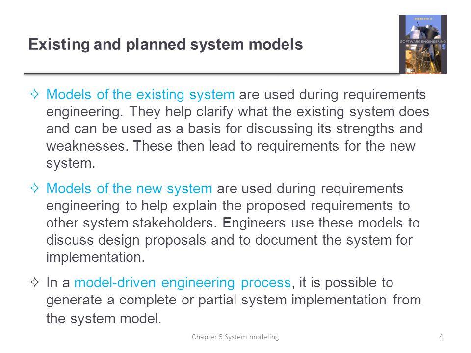 Multiple platform-specific models 45Chapter 5 System modeling